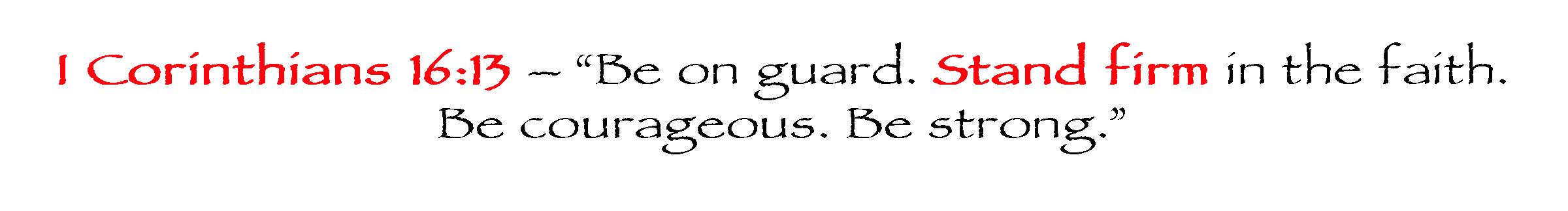 I Corinthians 16:13